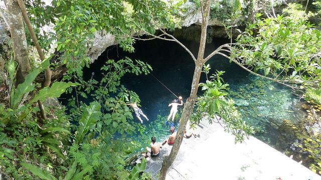 Gran Cenote bath